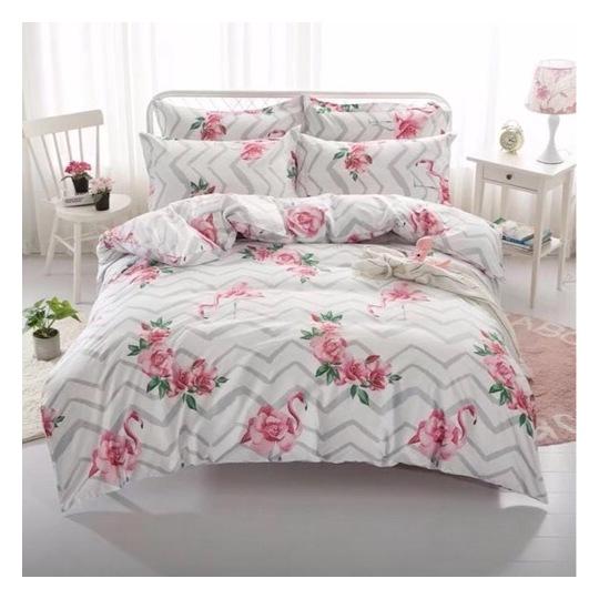 Deals For Less Pink Flamingo Design Single 4 pcs Comforter Set