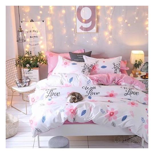 Deals For Less Floral Pastel Single 4 pieces Comforter Set