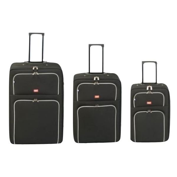 Princess Travellers BARCELONA Luggage Trolley Bag Black Set Of 3