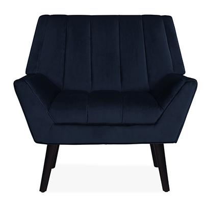 Houston Navy Blue Mid-century Modern Arm Chair Navy blue