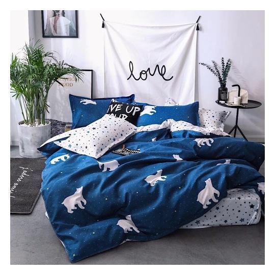 Deals For Less White Bear Single 4 pcs Comforter Set