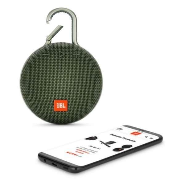 JBL CLIP3 Portable Bluetooth Speaker Forest Green