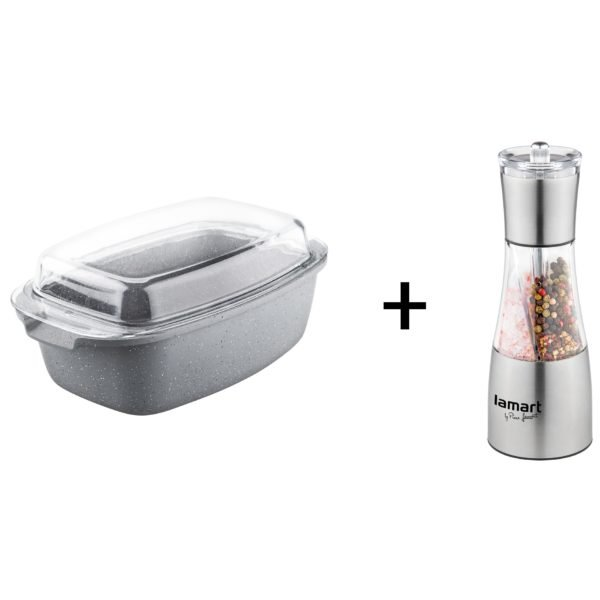 Lamart Roaster with Lid + 2in1 Spice Grinder