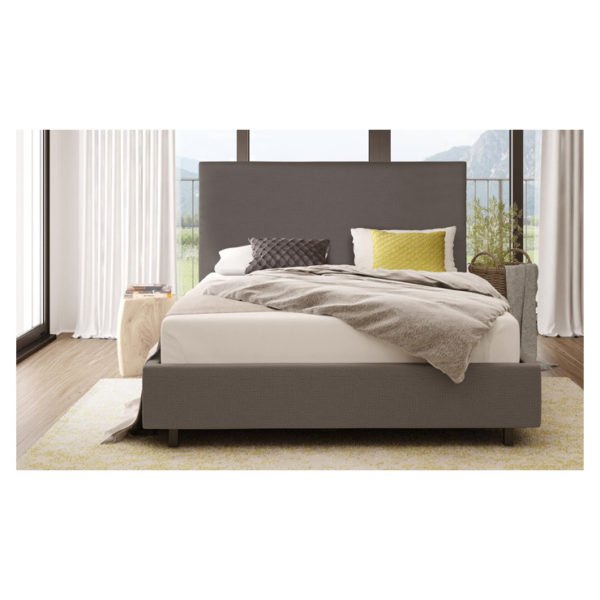 Wilmut Full Size Upholstered Bed Queen with Mattress Grey