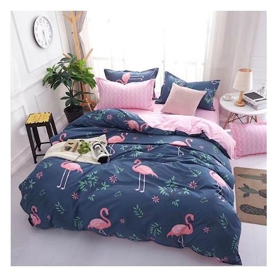 Deals For Less Pink Flamingo King 6 pcs Comforter Set