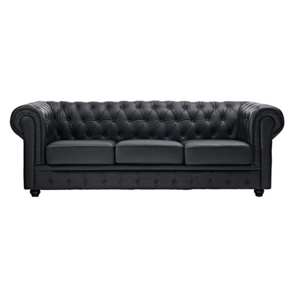 Ingles Sofa Sets Three Seater Sofa in Black Color