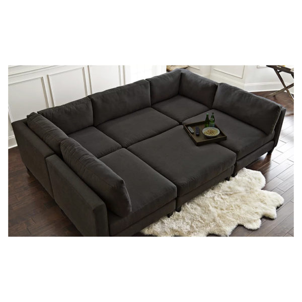 Chelsea Modular Sectional in Black Color