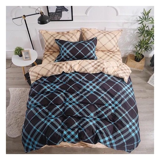 Deals For Less Checkered Single 4 pcs Comforter Set