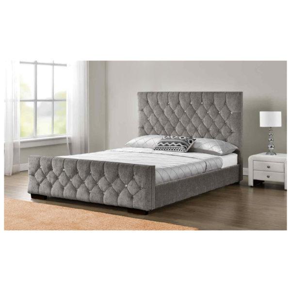 Arya Bedframe King Bed without Mattress Grey