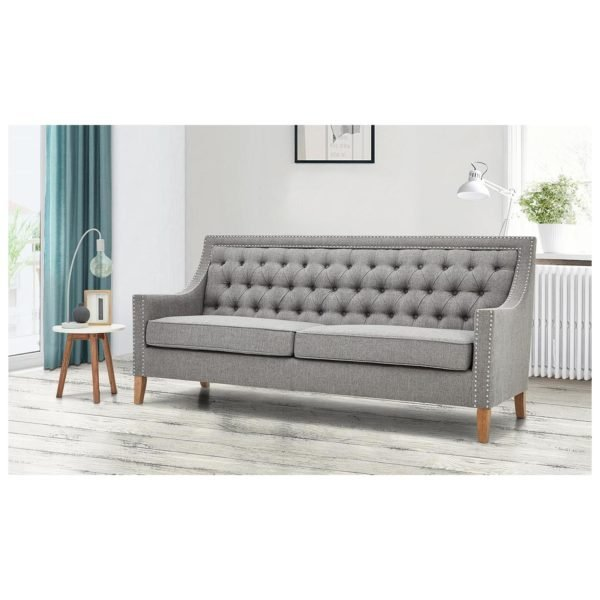 Montpellier Sofa Collection 4 - Seater ( 3+1 ) in Light Grey Color