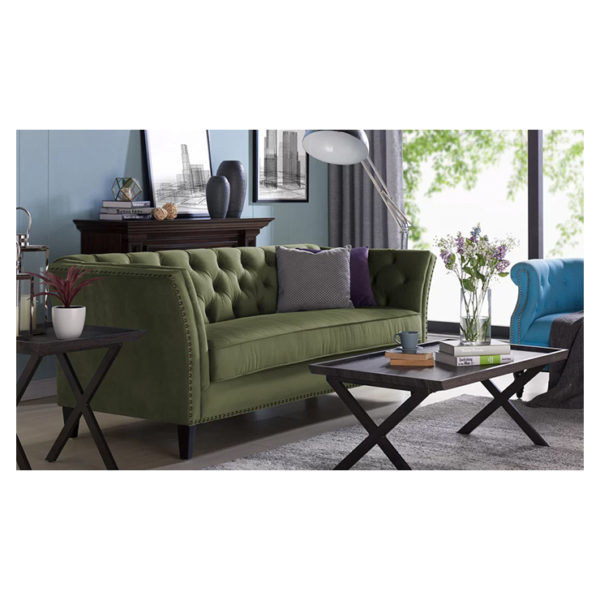 Gilmore Chesterfield Sofa in Green Color