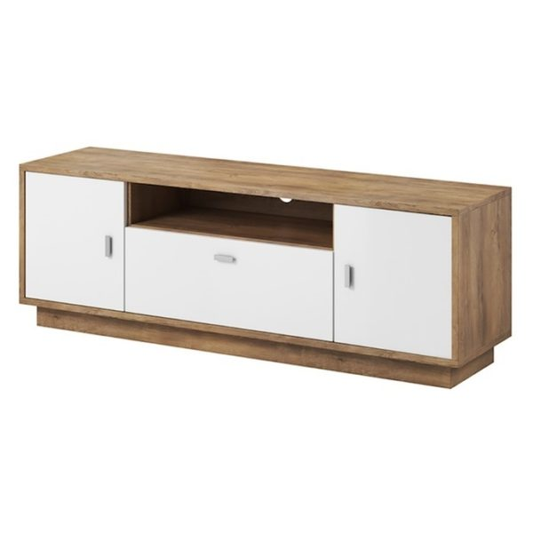 AtoZ Furniture Twist TV Unit (Oak/White)