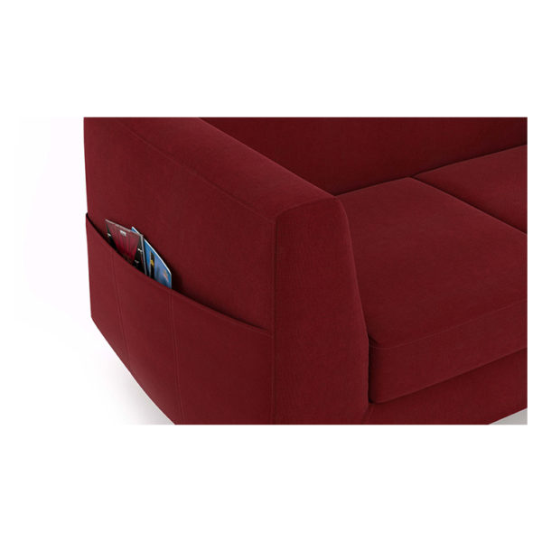 Rubik Sofa Three Seater Sofa in Red Color