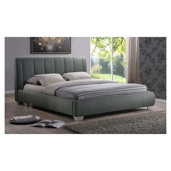 Olson Modern Platform Queen Bed with Mattress Grey