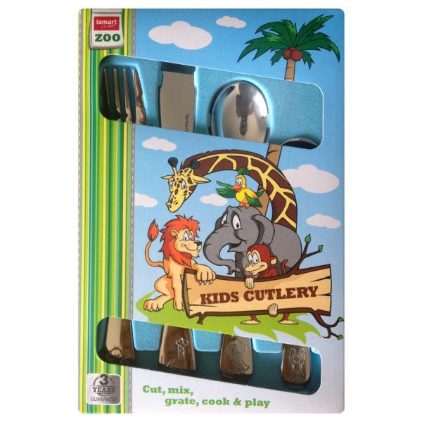 Lamart LT4027/05 Thermomug + Kids Cutlery Set 4 Pcs
