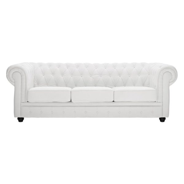 Ingles Sofa Sets Three Seater Sofa in White Color