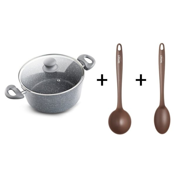 Lamart Pot with Lid + Soup Ladle + Serving Spoon