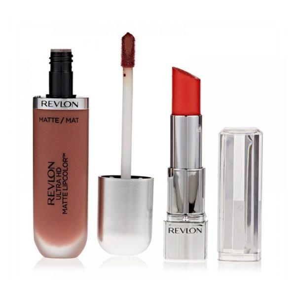 Revlon Ultra HD Lipstick Geranium & Ultra HD Matte Lipcolor Forever Promo Pack