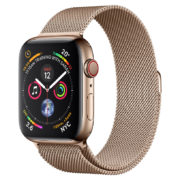on sale 178d0 16d1a Apple Watch Series 4 GPS + Cellular 44mm Gold Stainless Steel Case With  Gold Milanese Loop