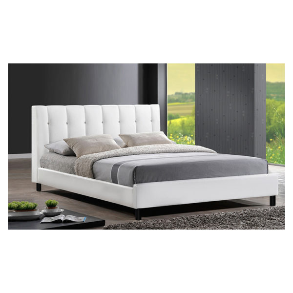 Vino Modern Queen Bed without Mattress White