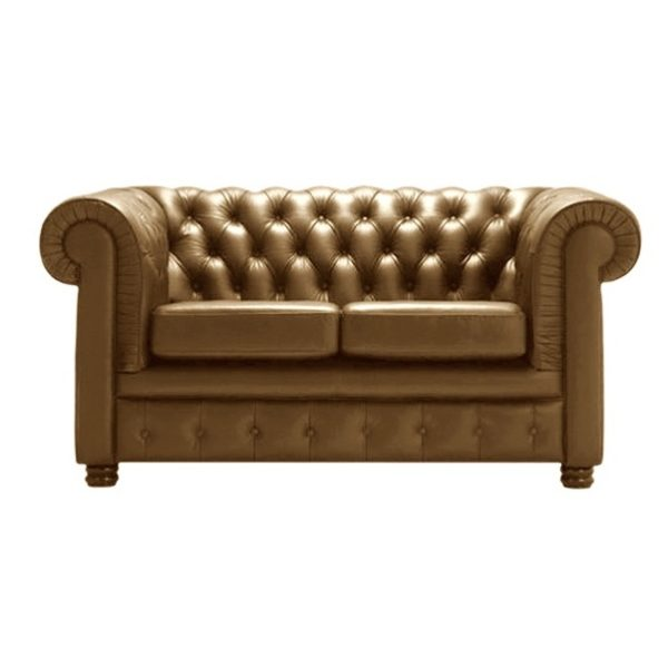 Ingles Sofa Sets Two Seater Sofa in Brown Color