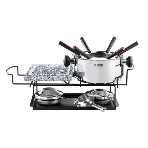 Lamart Fondue Set + Kitchen Apron