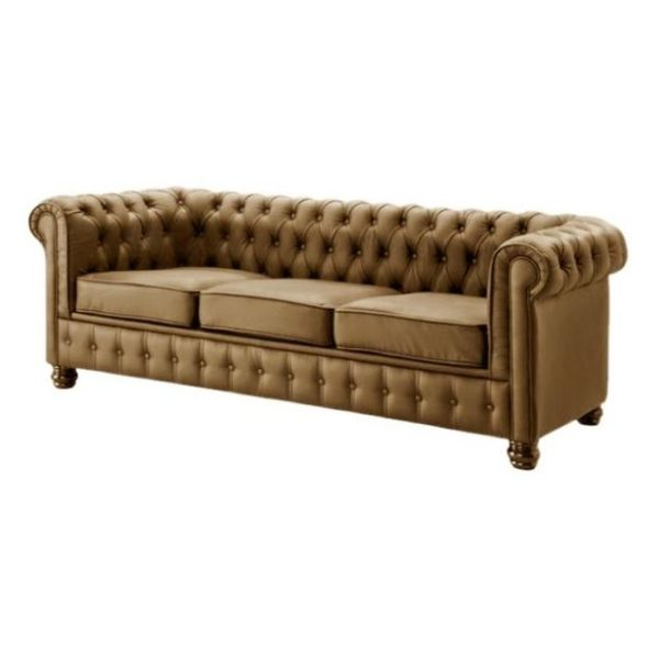 Ingles Sofa Sets 5 - Seater ( 3+1+1 ) in Brown Color
