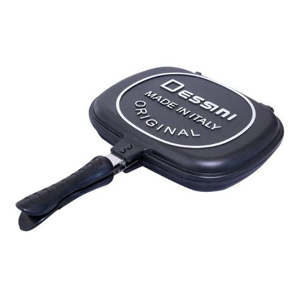 HomeStyle Dessini Aluminium Non Stick Double Grill Pan