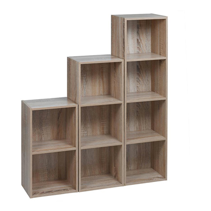 Bookcases and Cubes Set of Three shelves Antique oak