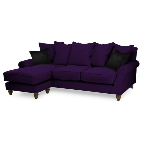 the best attitude 276d5 6c5f0 Galaxy Design Ellie Series L Shape Sofa Purple
