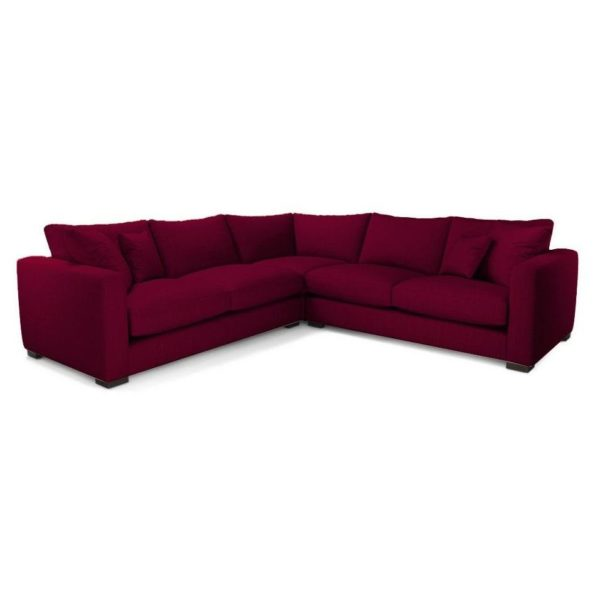 18256b1b1e90 Buy Galaxy Design Dillon 5 Seater Corner Sofa Mulberry – Price ...
