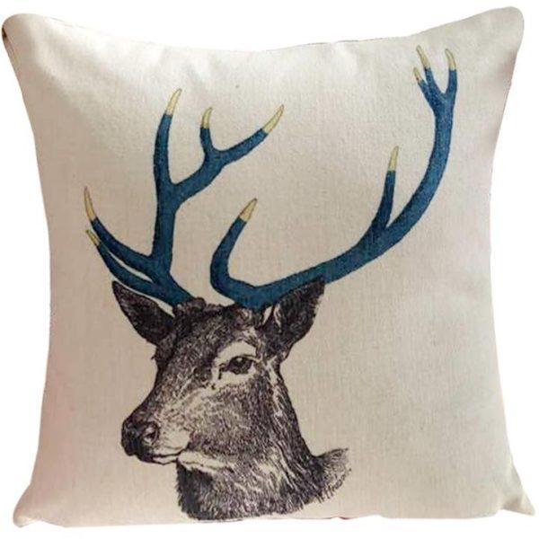 Galaxy Desing Decorative Cushion Elk Print Colorful Decorative Cushion Multicolor