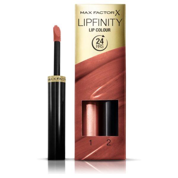 Max Factor Lipfinity Lip Colour Lipstick 2-step Long Lasting 070 Spicy 2.3ml + 1.9g