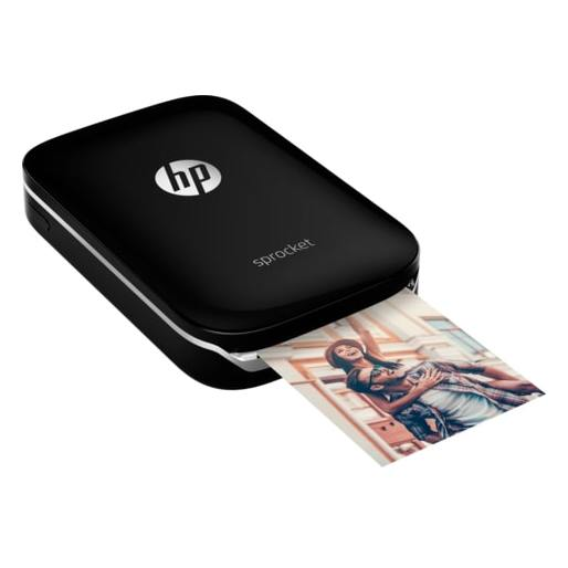 HP Z3Z92A Sprocket Bluetooth Photo Printer Black+50 Sheet Zink