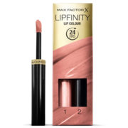 Max Factor Lipfinity Lip Colour Lipstick 2-step Long Lasting 160 Iced 2.3ml + 1.9g