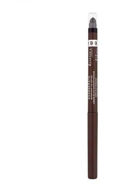 Rimmel London 61212 Exaggerate Waterproof Eye Definer 212 Rich Brown A Medium Brown Shade