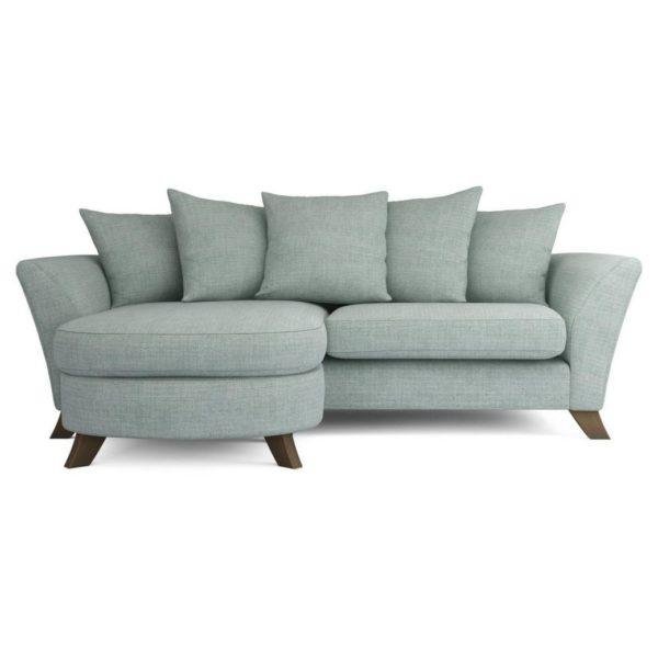 Galaxy Design Keira Mini L Shape Sofa Grey