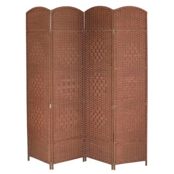 Home Style SH30486 4 Fold Divider / Partition Maroon