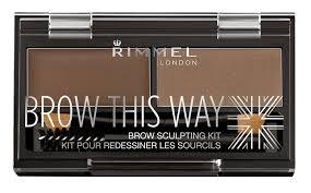 Rimmel London 40003 Brow This Way Eyebrow Sculpting Kit Dark Brown
