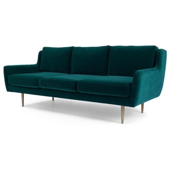 Simon 3 Seater Sofa Sea Green
