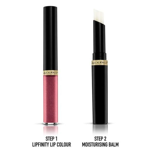 Max Factor Lipfinity Lip Colour Lipstick 2-step Long Lasting 330 Essentail Burgundy 2.3ml + 1.9g