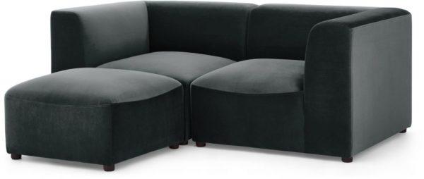 Galaxy Design Juno L Shape Living Room Sofa Wood Base Grey