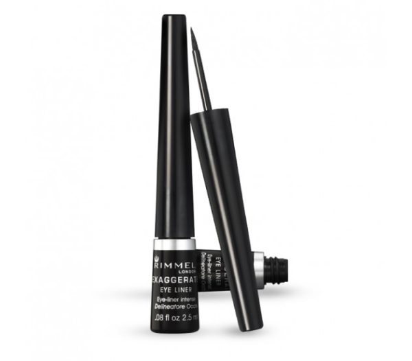 Rimmel London 65001 Exaggerate Liquid Eyeliner Black A Black Shade with A glossy Finish