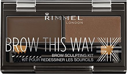 Rimmel London 40003 Brow This Way Eyebrow Sculpting Kit Dark Brown