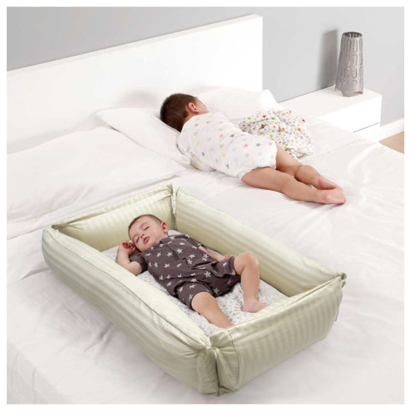 Dream Home Baby Bed Beige Strip