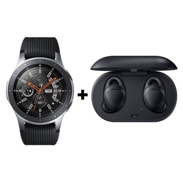 Samsung Galaxy Watch 46mm Black + Gear IconX Black