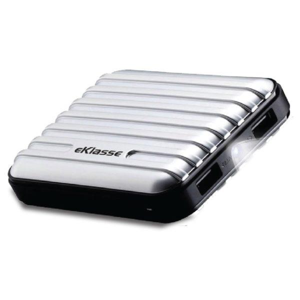 Eklasse EKPB10025XM Power Bank 10000mAh Luggage Silver