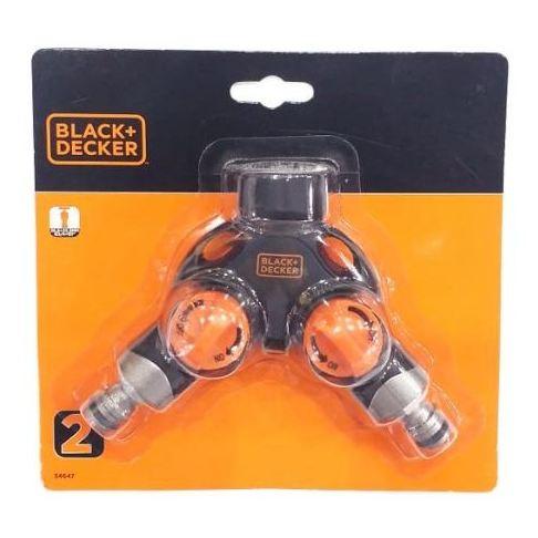 Black&Decker 2 Way Aluminium Tap Adaptor