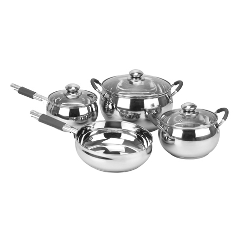 Royalford S/S 7 Pc Cookware Set