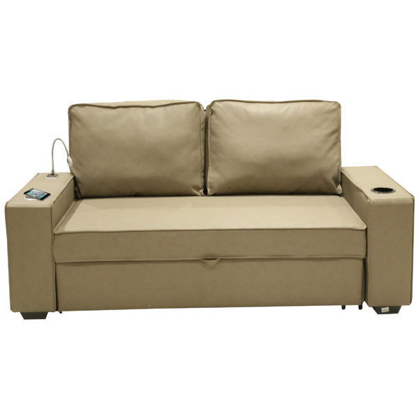 Home Style SH55010 3in1 Techno Sofa Bed W/Wireless Charging & Led Lamp Beige